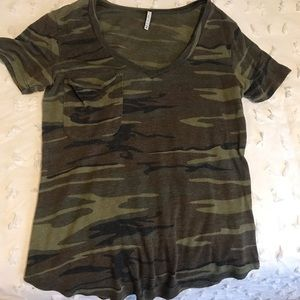 camouflage comfortable tshirt with pocket